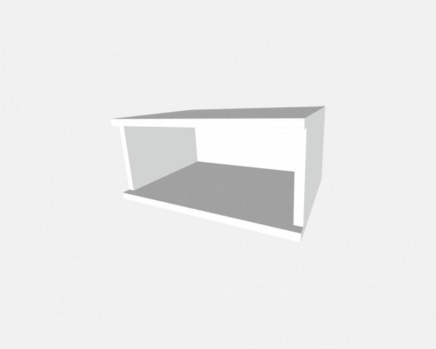 1er Korpus Mel. Weiß 500x232x359mm