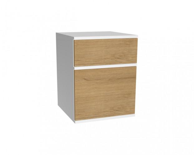 2er Schrankelement mit 1 Schublade + Tür(en) | Wildeiche