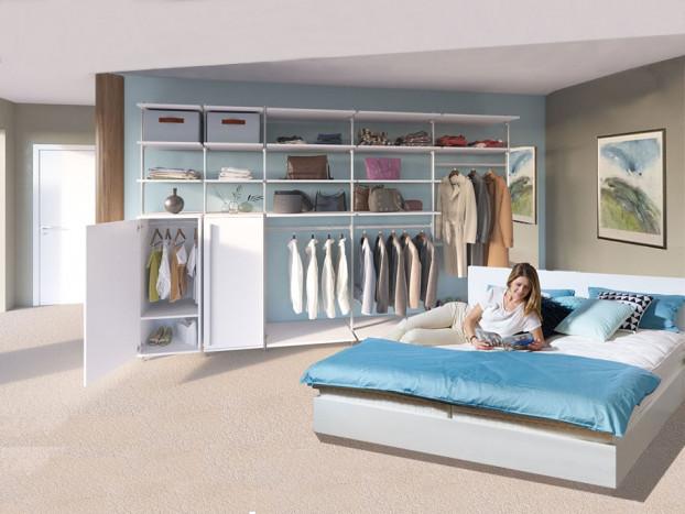 Schlafzimmer: Kleiderschrank PURE inkl. Designbett