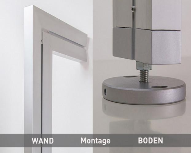 1tlg. Boden-Wand-Profil in 3 Längen für Ankleidezimmer