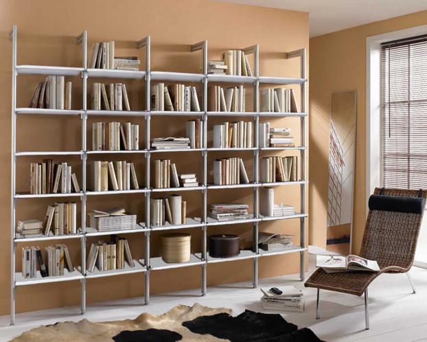 Bücherwand LIBERTY für die offene Gestaltung des Wohnraums
