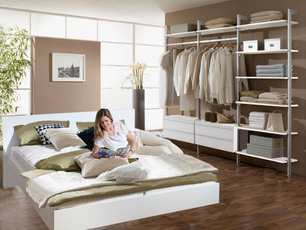 Schlafzimmer: Kleiderschrank PALM inkl. Designbett