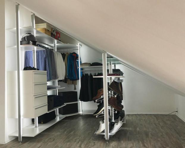 Begehbarer Kleiderschrank MADRID für Dachräume