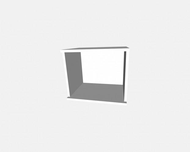 2er Korpus Mel. Weiß 500x426x359mm