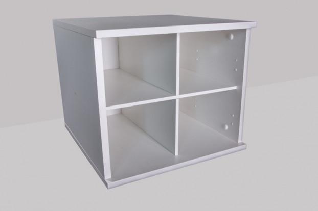 4fach-Einteilung Mel. Weiß, 461x388x478mm