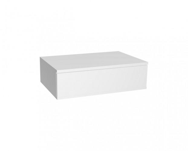 Schrankelement mit 1 Schublade grifflos | Weiß
