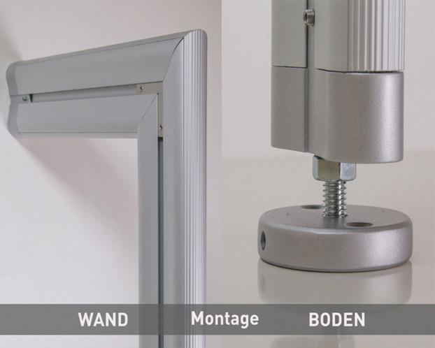 3tlg. Boden-Wand-Profil in 4 Längen