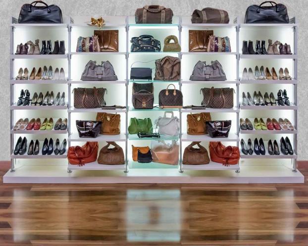Schuh- und Taschenregal CLUTCH in 2 Größen