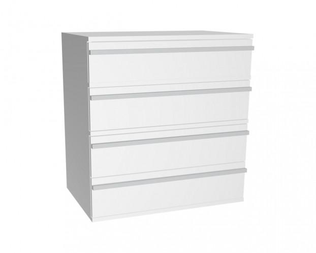 Schrankelement mit 4 Schubladen | Weiß