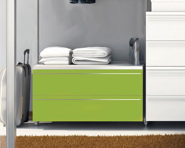Schubkastenelement Front Weiß/Frühlingsgrün