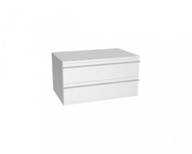 Schrankelement mit 2 Schubladen | Weiß