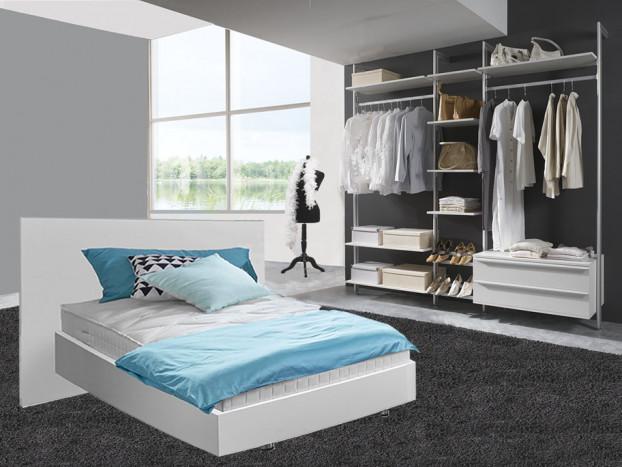 Schlafzimmer: Kleiderschrank SYLT inkl. Designbett