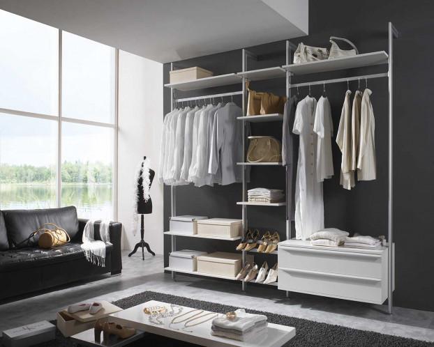 Schranksystem SYLT als Möglichkeit Nischen im Schlafzimmer zu nutzen