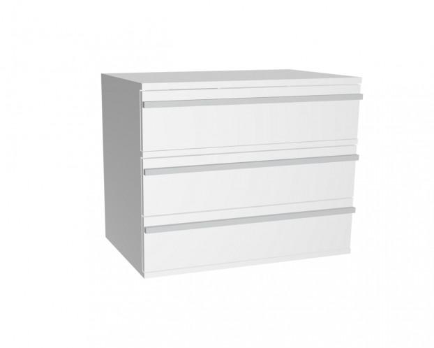 Schrankelement mit 3 Schubladen | Weiß